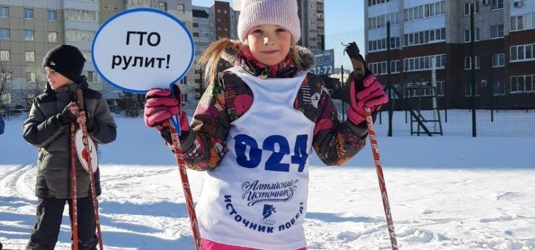 """Учащиеся СОШ 132 выполнили норматив """"бег на лыжах"""""""